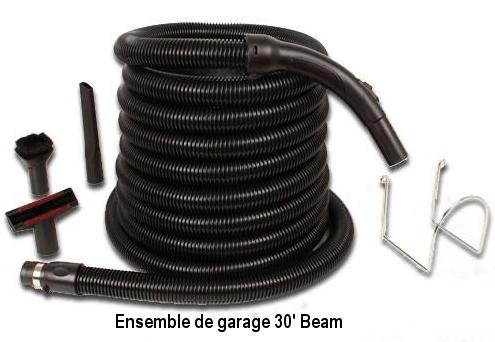 Ensemble de garage pour aspirateur central